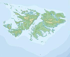 Voir la carte topographique des Îles Malouines