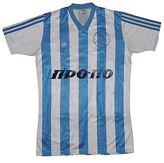 Iraklis F.C. (Thessaloniki) - Shirt of Iraklis of 1987–88 season