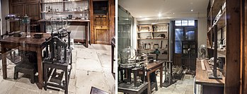 Royal Institution. Faraday Museum. Faraday's original 1850s laboratory