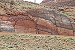 Faults in Moenkopi Formation Moab Canyon Utah USA 01.jpg