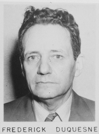 American Theater (World War II) - Fritz Joubert Duquesne, FBI file photo