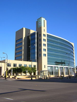 Federal Reserve Bank of Minneapolis - Federal Reserve System, U.S. 9th District, seen from Hennepin Avenue