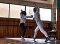 Fencing. Epee. Nikos Katsinis and Eleftheria Mimigianni.jpg