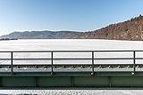 Ferlach Ressnig ÖDK-Flusskraftwerk Drau Staudammkrone und Stausee 28012017 6226.jpg