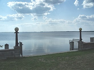Lake Eustis - Lake Eustis, looking west from Ferran Park