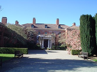 Dynasty (1981 TV series) - An exterior view of Filoli, used as the Carrington mansion on Dynasty.