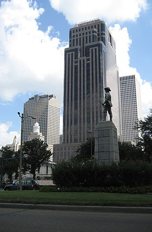 First Bank and Trust Tower - First Bank and Trust Tower seen from Loyola Avenue at Poydras