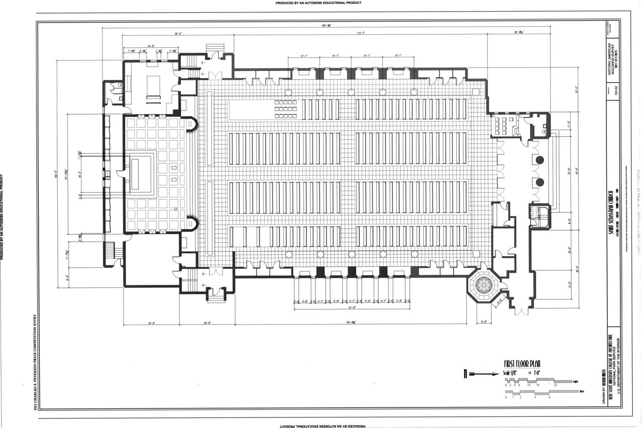 File First Floor Plan Saint Sebastian Church 476 Mull