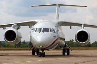 Antonov An-148 - The first Russian-built An-148 at the MAKS 2009 airshow