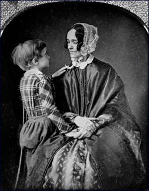 Jane Pierce - Jane Pierce with her last surviving son, Benjamin Pierce. The child died in 1853 in a train crash, two months before his father was sworn into office as President.