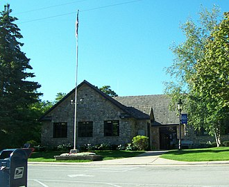 Fish Creek, Wisconsin - Image: Fish Creek Wisconsin Post Office Gibraltar Town Center WIS42