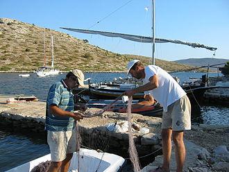 Kornati - Fishermen in Lavsa