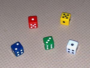 Five Colored Dice
