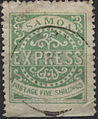 Five shilling Samoa Express stamp 1877-81 genuine.jpg