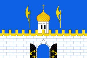 Sergiyevo-Posadsky District - Image: Flag of Sergiev Posad rayon (Moscow oblast)