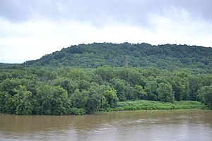 Great Miami River - Flannery Island, located in the mouth of the Miami at its confluence with the Ohio River