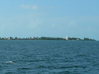 Fleming Key - The northern portion of Fleming Key as seen from the east, showing several NAS structures