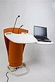 Flextern orange lectern laptop.jpg