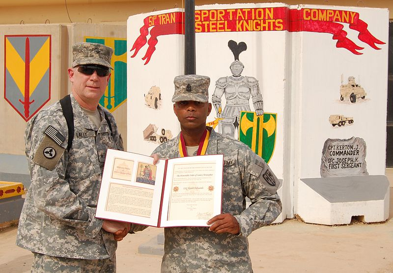 File:Flickr - The U.S. Army - Transportation first sergeant awarded St. Christopher medallion.jpg