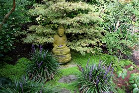 Flickr - brewbooks - Buddha on Lotus Japanese Garden, Lotusland.jpg
