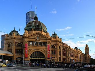 Railways in Melbourne - Flinders Street railway station in 2009