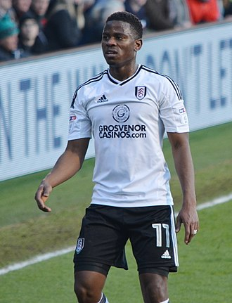 Floyd Ayité - Ayité playing for Fulham in 2018