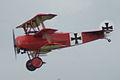 Fokker Dr.I Manfred Richthofen Pass three 04 Dawn Patrol NMUSAF 26Sept09 (14413333989).jpg