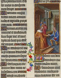 Folio 67v - David Entrusts a Letter to Uriah