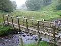Footbridge across Thursden Brook on The Bronte Way - geograph.org.uk - 945135.jpg