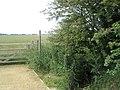"Footpath sign at the ""dog leg"" - geograph.org.uk - 844492.jpg"