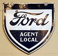 Ford Agent local, Enamel advert sign at the den hartog ford museum pic-083.JPG