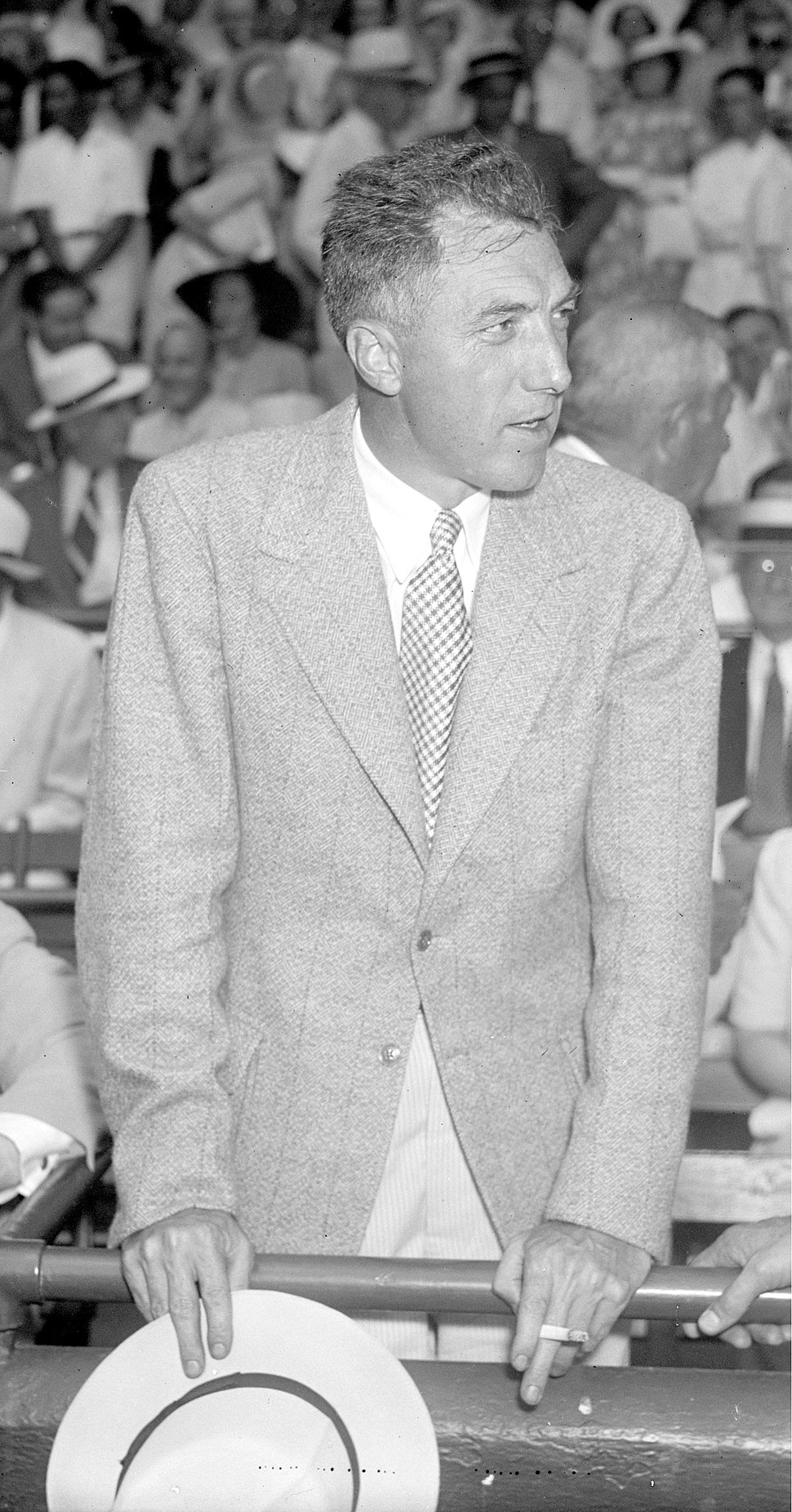 Ford Frick at 1937 All-Star Game (cropped and adjusted)