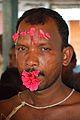 Forehead Pierced Gajan Sannyasi - Bainan - Howrah 2015-04-14 8006.JPG