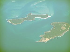 Forsyth Island - Forsyth Island, pictured top left; with Passage Island, bottom right.