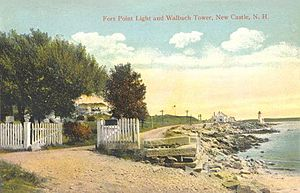 New Castle, New Hampshire - Image: Fort Point Light & Walbach Tower