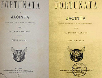 Fortunata y Jacinta - Title page of the first edition of Fortunata y Jacinta (1887)