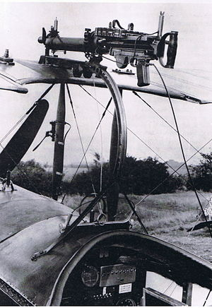 Avro 504 - Foster-mounted Lewis gun on night fighter Avro 504K