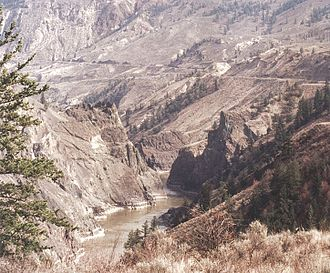 Fraser Canyon - View of Fraser Canyon near Fountain, British Columbia