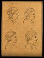 Four heads of boys. Drawing, c. 1793. Wellcome V0009205EC.jpg