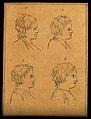 Four heads of boys. Drawing, c. 1793. Wellcome V0009205EC.jpg