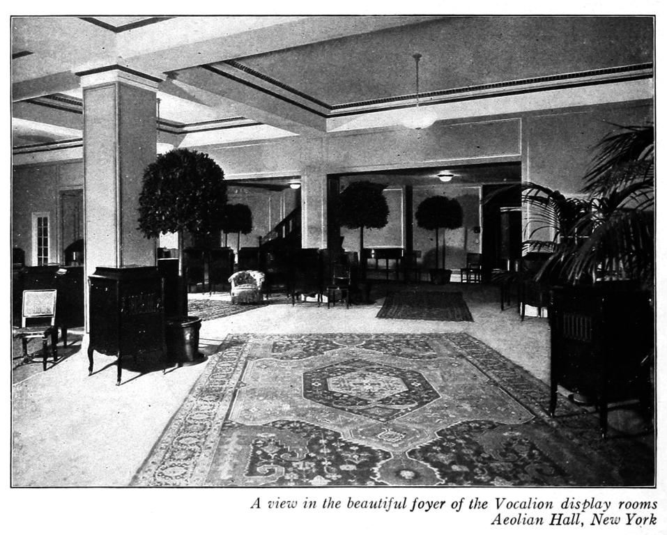 Foyer Room Nyc : File foyer of the vocalion display rooms aeolian hall