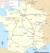 High-speed lines in France