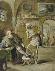 Death Playing the Violin (Death and a Money-Lender)