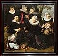 Frans hals, ritratto della famiglia van campen in un paesaggio, 1620-25 ca.jpg
