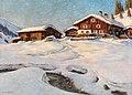 Franz Holper - Winter Landscape near Davos.jpg