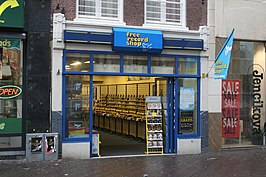 Filiaal van Free Record Shop in Den Haag (2008)