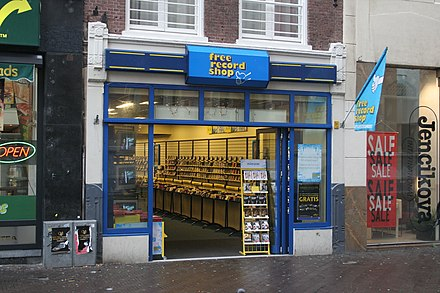 A record shop in The Hague, Netherlands Free Record Shop.jpg