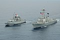 French frigate Vendemiaire (F734) with USS Michael Murphy (DDG-112) in the South China Sea 2014.JPG