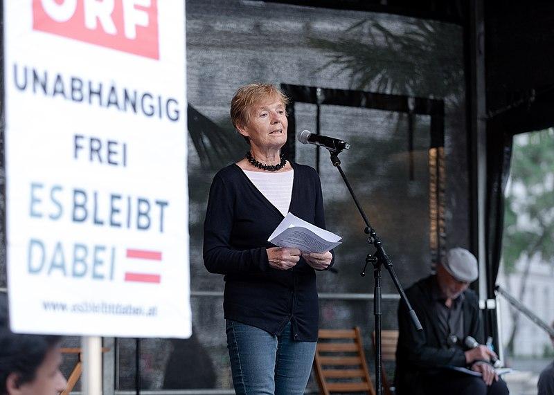 File:Friedrun Huemer (Die öffentliche bessere Medienenquete, Wien 2018) a.jpg
