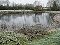 Frozen pond by the Vale of the White Horse Inn - geograph.org.uk - 1107138.jpg